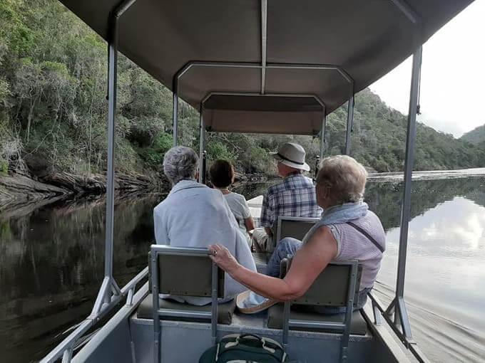 Elderly people cruising Touw River
