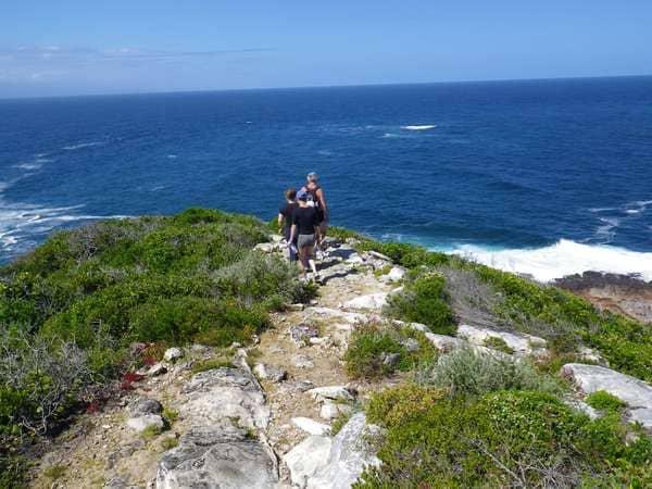 hiking on the coast